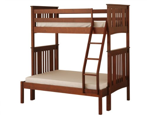 Best Save On Canwood Base Camp Twin over Full Bunk Bed with Ladder Guard Rail Cherry Saved Royal California King Thread Count Comforter Egyptian
