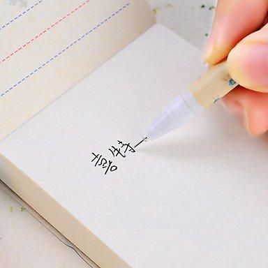 LWW Lindo Guante Diseño Negro Tinta Gel Pen