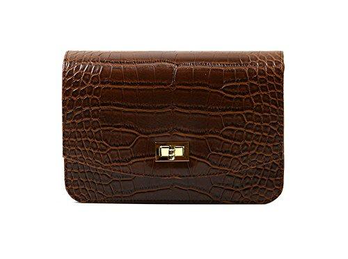dearwyw-unique-crocodile-skin-pattern-mini-shoulder-cross-body-bag-brown