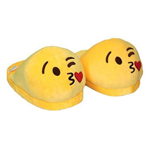 Kigurumi Pantofole Peluche Emoji Unisex Adulto Scarpe Cosplay Halloween Costume Attrezzatura- LATH.PIN
