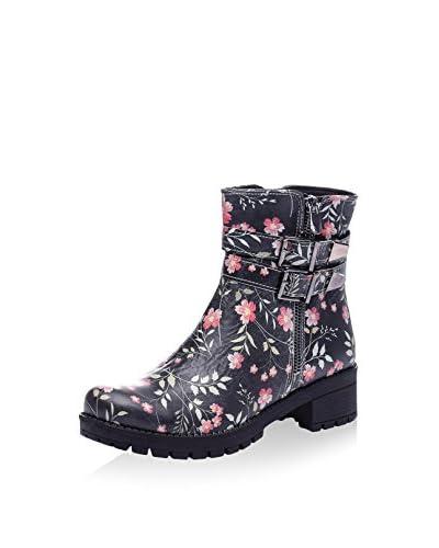 Isabelle Jaquelin Biker Boot schwarz/rosa
