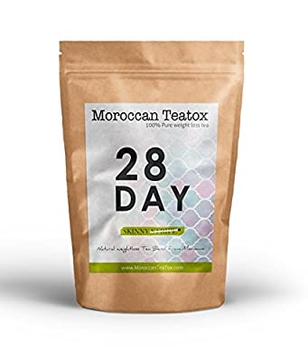 28 Day Moroccan Teatox #1 Deatox tea - TWICE THE TEATOX HALF THE PRICE OF ANY OTHER BRAND - Weight Loss Aid for a Great Body Cleanse - Reduce Your Bloating and Improve Digestion