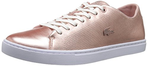 Lacoste Women's Showcourt Lace Fashion Sneaker, Pink, 7 M US