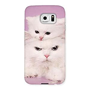 Delighted Kitty Family Back Case Cover for Samsung Galaxy S6