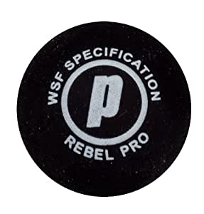 Prince Rebel Squash Ball - Double Yellow Dot