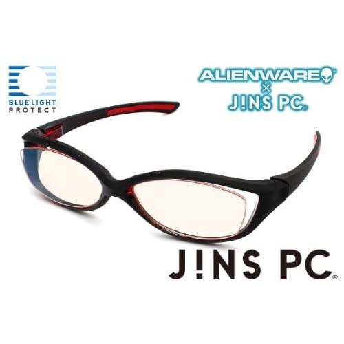 【ALIENWARE×JINS PC】ゲーミングPCとのコラボメガネ (ブラック×レッド)
