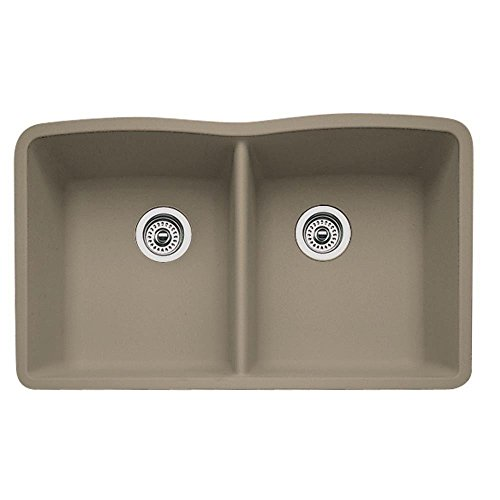 Blanco 441286 diamond equal double bowl silgranit ii sink for Silgranit ii sinks