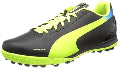 Puma  evoSPEED 4.2 TT, Chaussures de football homme - Noir - Schwarz (black-fluo yellow-brilliant blue 01), 42 EU