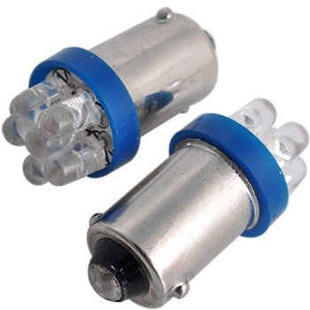 2 X Ba9S Car 6 Led Blue Side Interior Light Bulb Lamp