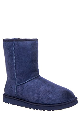 Classic Short Crystal Bow Mid Calf Boot