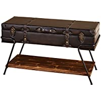 Trunk Coffee Table With Lift Top Storage (Brown)
