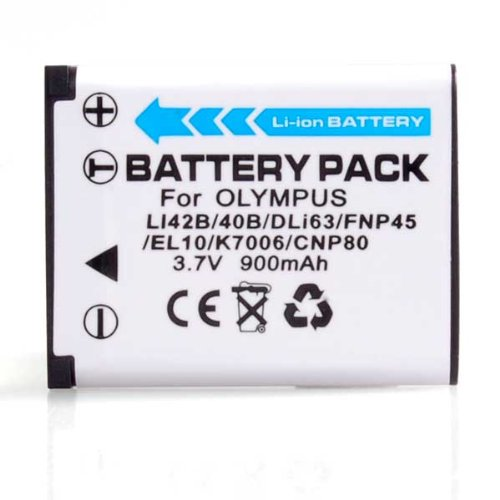 High Capacity Digital Camera Replacement Lithium-Ion Battery Compatible with Kodak KLIC-7006, Fuji NP-45, Nikon EN-EL10, Pentax D-LI63, Olympus LI-40B, LI-42B
