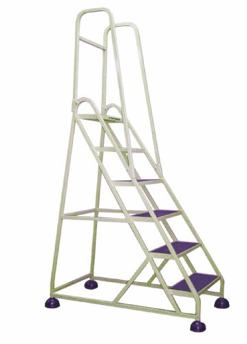 Cramer 1063-19 Stop-Step Ladder 6 Steps with Double Handrail 54-inch High Top Step, Beige