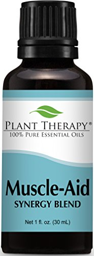 Muscle Aid Synergy Essential Oil Blend. 30 ml (1 oz). 100% Pure, Undiluted, Therapeutic Grade. (Blend of: Wintergreen, Camphor and Pine)