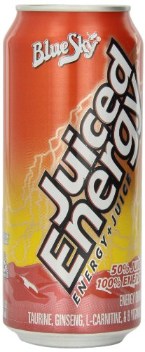 Blue Sky Juiced Energy, 16 Ounce Cans (Pack Of 12)