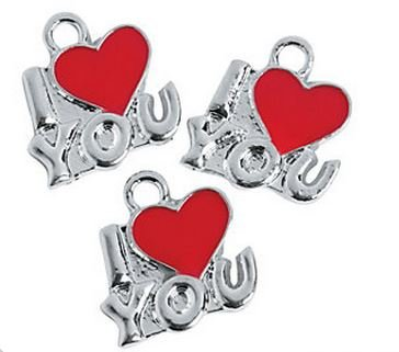 I (Heart) You Charms - 1 Dozen