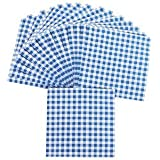 Blue Gingham Luncheon Napkins - Tableware & Napkins