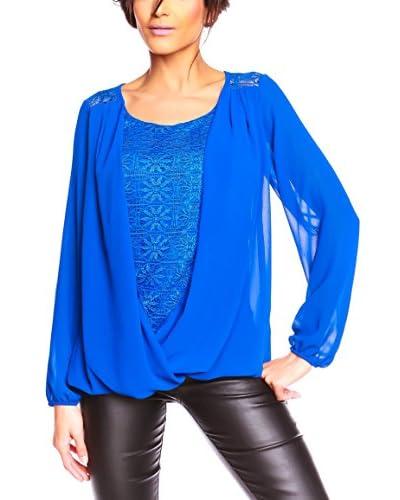 Glamour Paris Bluse Noa blau