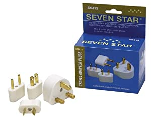 Seven Star Polarized International Electricity Travel Adapter Plug Set