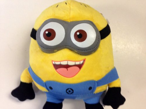 """DESPICABLE ME"" Happy Face 3-D EYES Despicable Me Plush Minion 7.5"" Tall. Soft, Cuddly and So Much Fun! - 1"