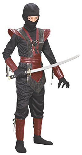 Boys Ninja Fighter Leather Kids Child Fancy Dress Party Halloween Costume