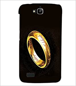 PrintDhaba Ring D-2245 Back Case Cover for HUAWEI HONOR HOLLY (Multi-Coloured)