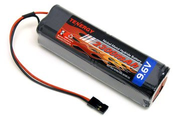 9.6V Tenergy 2000mAh Square Futaba NT8S600B Transmiter Battery Pack for RC Airplanes and Cars