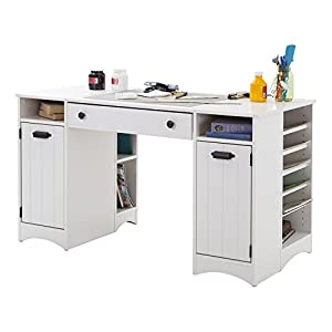 South shore artwork craft table with storage for South shore sewing craft table