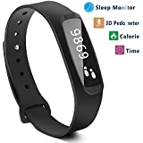 Smart Band Step Tracker Pedometer Smart Bracelet Fitness Activity Tracker H1 Sleep Monitor Calories Track Waterproof...
