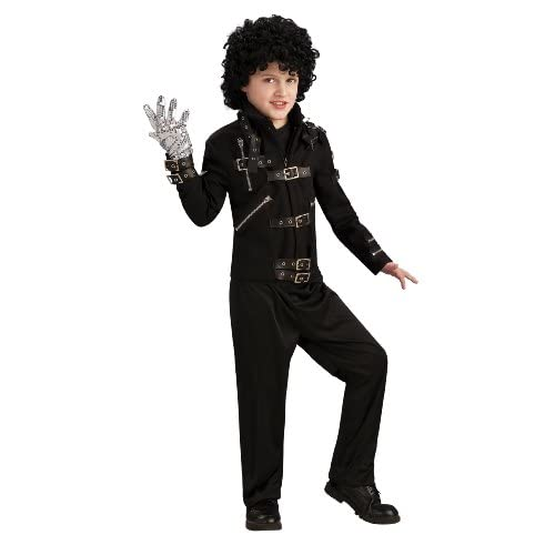 Lets Party By Rubies Costumes Michael Jackson Deluxe Bad Buckle Jacket Child / Black   Size Large (12 14)
