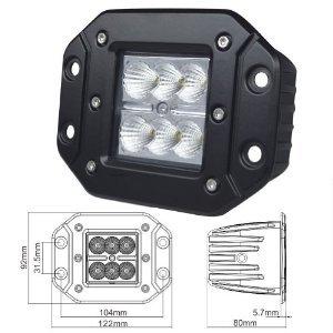 Nilight® 18W 3X3 Dually Flush Mount Cree Led Spot Light Lamps Dually D2 Off Road 4X4 4Wd Jeep Truck F150 Tacoma Bumper Atv Utv Off Road 4X4 Jeep 3 Inch Spot (1 Pc) (Full Size)