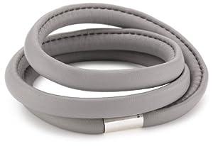 Pilgrim Damen-Armband Charming versilbert graues Leder 60 cm 42121-9009