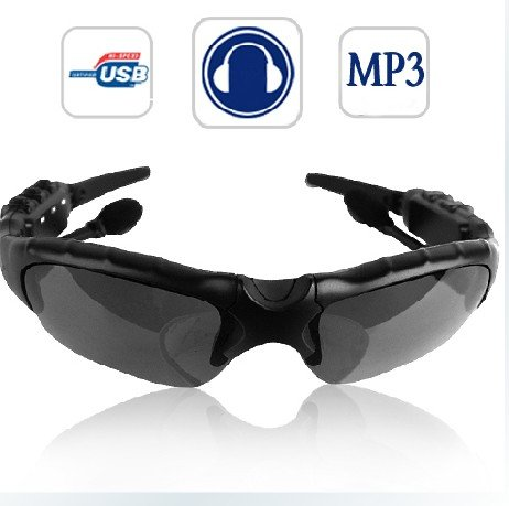 Cool Shiny Sunglasses 2Gb Headset Headphone Mp3 Player Sun Glass
