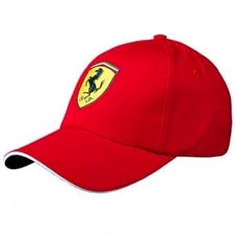 Amazon.com: Ferrari Red Classic Shield Hat: Clothing
