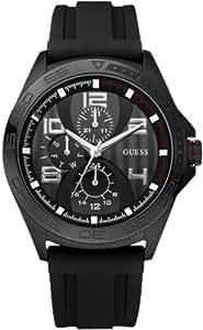 Guess Men's W14048G1 Black Rubber Quartz Watch with Black Dial