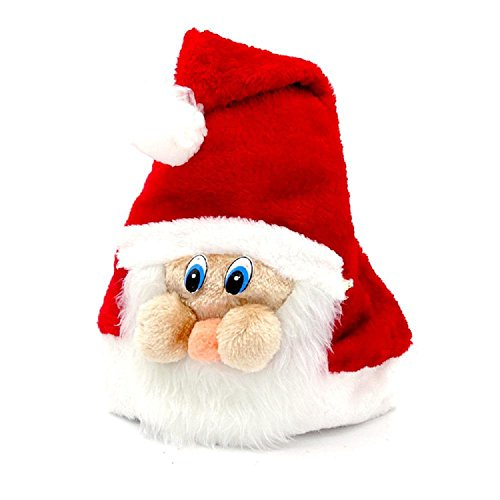 [Christmas costumes Santa Hat plush Santa hat with mask adult child can wear] (Lotr Elves Costumes)