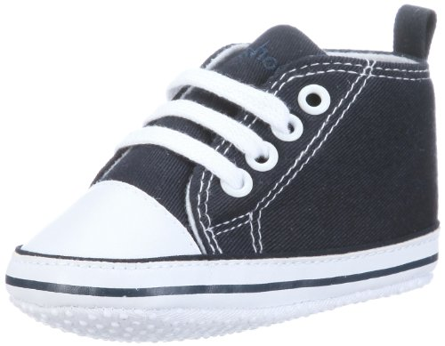 Playshoes Canvas Baby Toddler Sneaker, Babyshoes, Booties (Navy, 3 - 6 Months, Size 18)