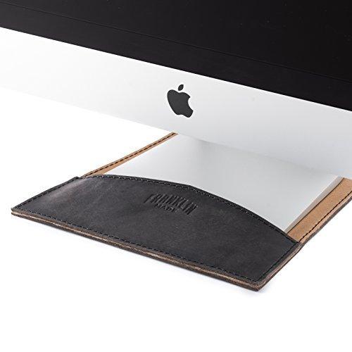 100% Full Grain Black Leather Sleeve for Apple 27