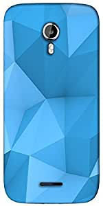 Snoogg blue polygon 2757 Designer Protective Back Case Cover For Micromax A117