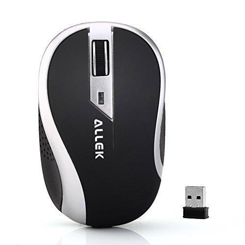 Allek® Wireless – USB Notebook Maus G179 | optisch | ergonomisches Design | 1000dpi | 2,4GHz Nano Empfänger | Kabellos | Funk | anthrazit