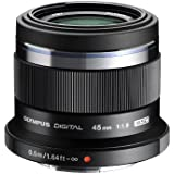 Olympus M. Zuiko Digital ED 45mm f1.8 (Black) Lens for Olympus and Panasonic Micro 4/3 Cameras - Fixed