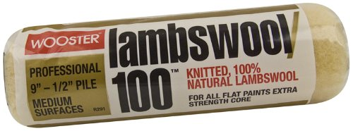 wooster-brush-r291-9-lambswool-100-roller-cover-1-2-inch-nap-9-inch