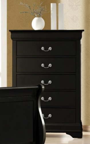 Coaster Home Furnishings Transitional Chest, Black front-450464