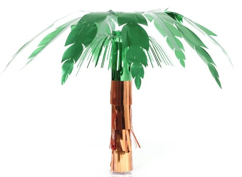 Creative Converting Foil Centerpiece, 20-Inch, Luau Palm Tree - 1