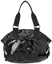 LeSportsac Jetsetter Shoulder Bag,Black Patent,One Size