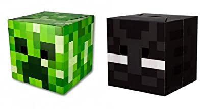 Official Minecraft 12 Creeper Enderman Exclusive Head Costume Mask Set Of 2 from Unknown