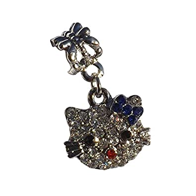 A Cute Hello Kitty Blue Bow Shoe Charm from Pimp My Shoes for Converse Trainers
