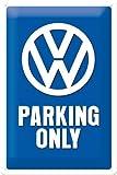 VW Parking only Blechschild 20x30 cm Schild Sign Blechschilder