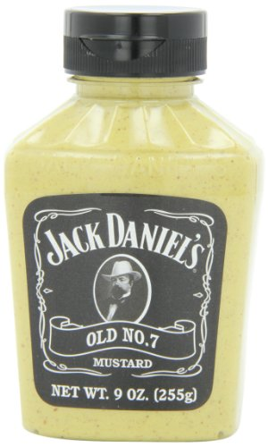 Jack Daniels Old No. 7 Mustard, 9-Ounce Bottles (Pack of 6)