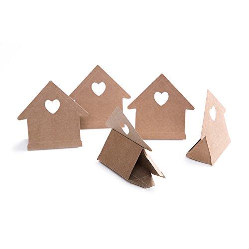 10 kleine kraftpapier schachteln mit ausgestanztem herz 6 x 3 5 x 9 cm f r pralinen kekse. Black Bedroom Furniture Sets. Home Design Ideas